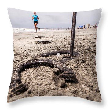 Throw Pillow featuring the photograph Ringer by Sennie Pierson