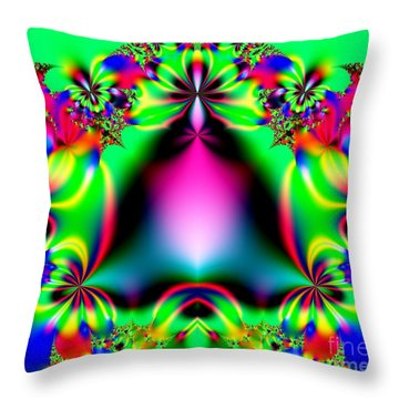 Ringing In Spring Fractal 145 Throw Pillow by Rose Santuci-Sofranko