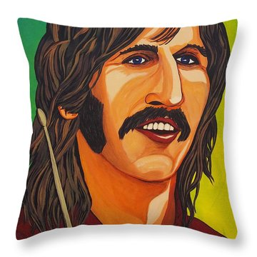 Ringo Star    Stick Throw Pillow