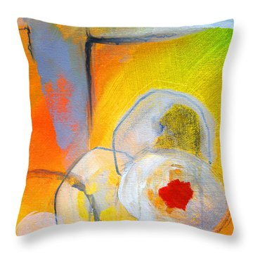 Rings Abstract Throw Pillow