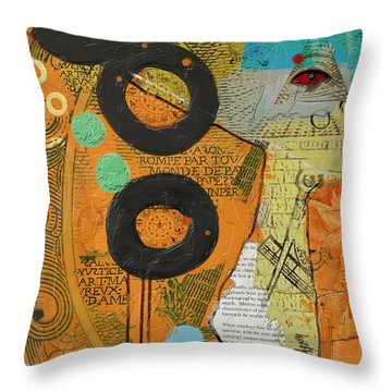 Rings Throw Pillow by Corporate Art Task Force