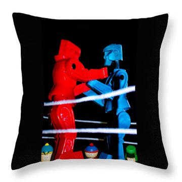 Ringside Throw Pillow by Pat Cook