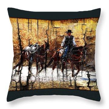 Rio Cowboy With Horses  Throw Pillow