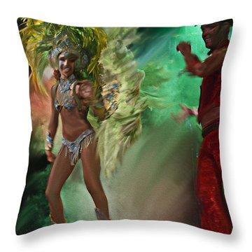 Rio Dancer II A  Throw Pillow