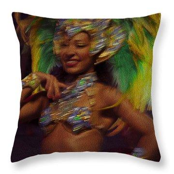 Rio Dancer IIi B Throw Pillow