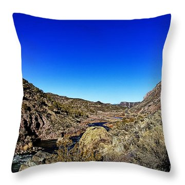 Rio Grande Gorge-taos New Mexico Throw Pillow