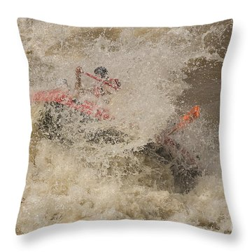 Rio Grande Rafting Throw Pillow by Steven Ralser