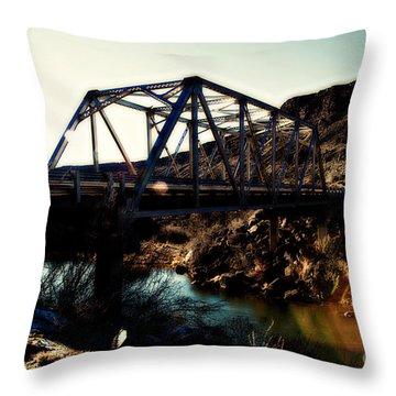 Rio Grande River Bridge Throw Pillow