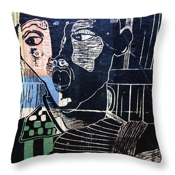 Rio Mural Throw Pillow by Matthew Bamberg
