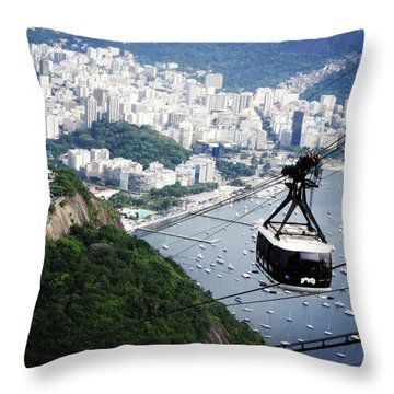 Rio Overview Throw Pillow by Zinvolle Art