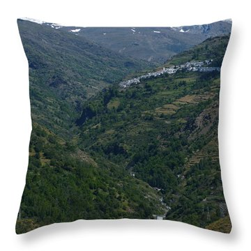 Rio Poqueira Valley And Sierra Nevada - Spain Throw Pillow