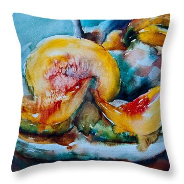 Ripe And Juicy Throw Pillow by Jani Freimann