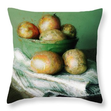 Ripe Mangoes In A Bowl Throw Pillow