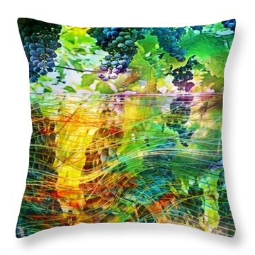 Ripened Vines Throw Pillow