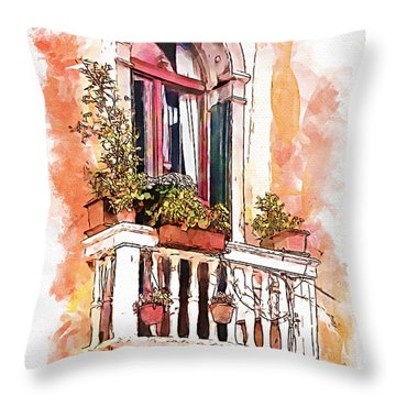 Riposo Throw Pillow by Greg Collins