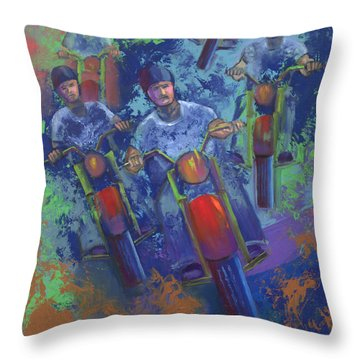 Rippin It Up Throw Pillow by Peter Bonk