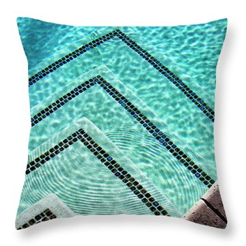 Ripple Effect Palm Springs Throw Pillow