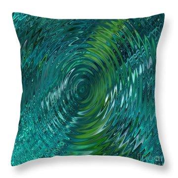 Ripple Sea Glass  Throw Pillow by Christine Fournier