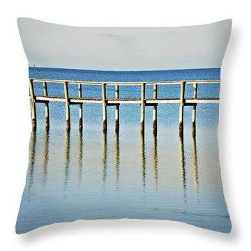 Rippled Reflections Throw Pillow
