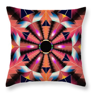 Throw Pillow featuring the drawing Rippled Source Of Light by Derek Gedney
