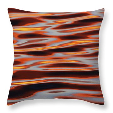 Ripples At Sunset Throw Pillow