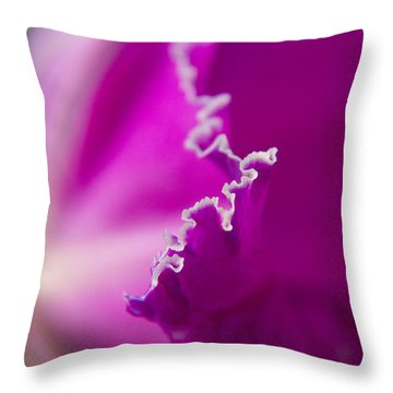 Ripples In Relief Throw Pillow