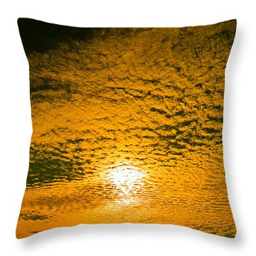 Ripples In The Sky Throw Pillow by Nick Kirby