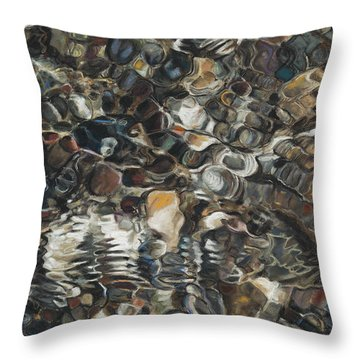 Ripples Throw Pillow by Nick Payne