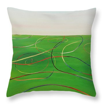 Throw Pillow featuring the painting Ripples Of Life 1 by Tim Mullaney