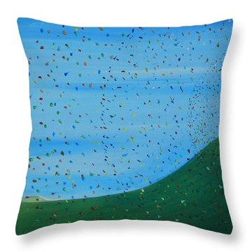 Throw Pillow featuring the painting Ripples Of Life 2 by Tim Mullaney
