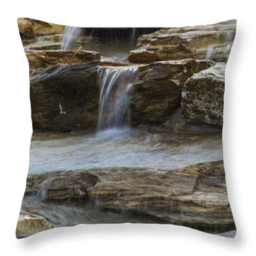 Ripples Of Water Panoramic Throw Pillow
