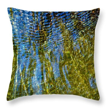 Ripples On The Rocks Throw Pillow by Rita Mueller