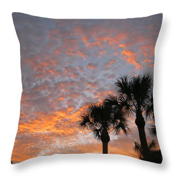 Rise And Shine. Florida. Morning Sky View Throw Pillow