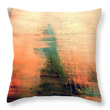 Throw Pillow featuring the painting Rise by Jacqueline McReynolds