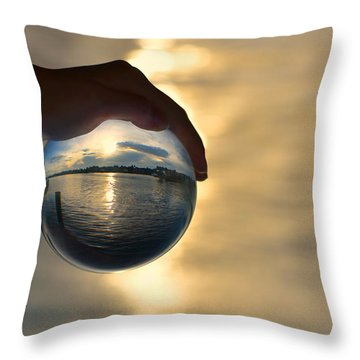 Rise Throw Pillow by Laura Fasulo