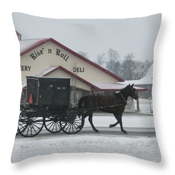 Rise N Roll Buggy Throw Pillow