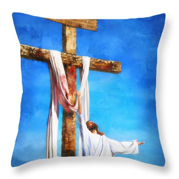 Throw Pillow featuring the digital art Risen by Francesa Miller