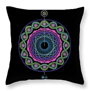 Rising Above Challenges Throw Pillow by Keiko Katsuta