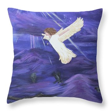 Throw Pillow featuring the painting Rising Above by Cheryl Bailey