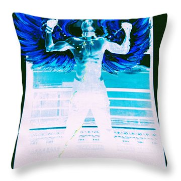 Rising Angel Throw Pillow
