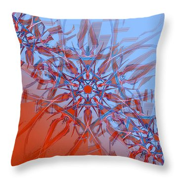 Rising Flame Throw Pillow