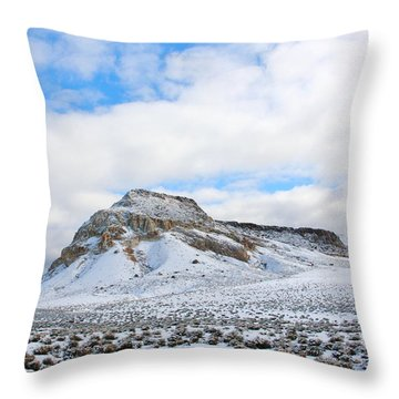 Rising From The Desert Floor Throw Pillow