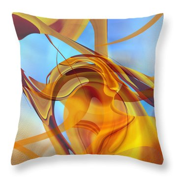 Rising Into Sky Blue Abstract Throw Pillow