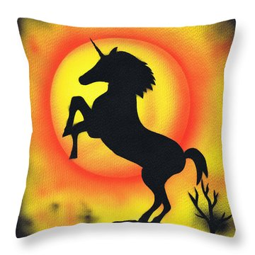 Rising Throw Pillow