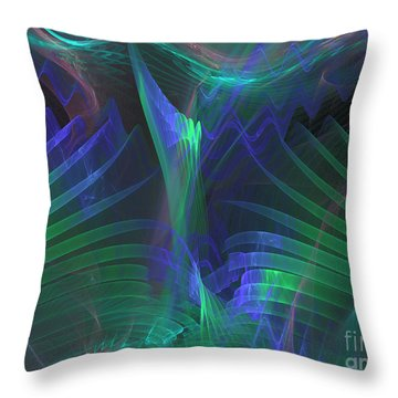 Rising Palm Throw Pillow