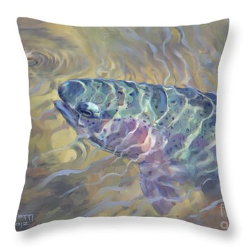 Rainbow Rising Throw Pillow by Rob Corsetti