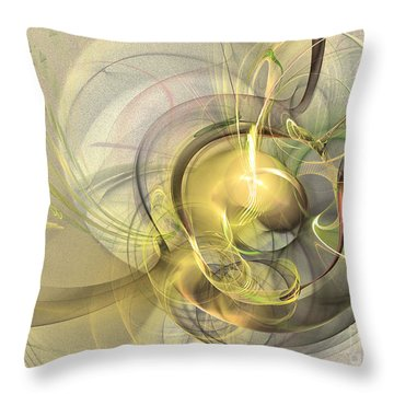 Rising - Abstract Art Throw Pillow