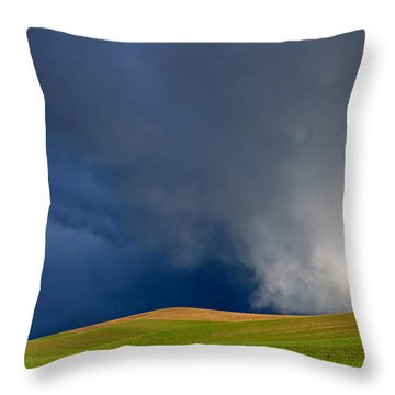 Rising Storm Over The Palouse Throw Pillow