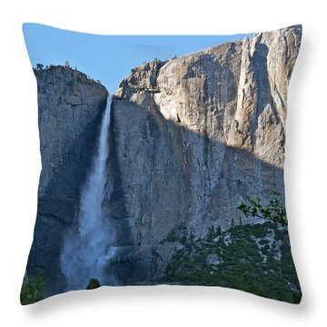 Rising Sun At Upper Yosemite Falls Throw Pillow by Michele Myers