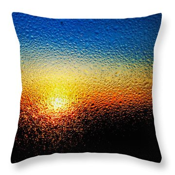 Rising Sun Throw Pillow by Tom Druin